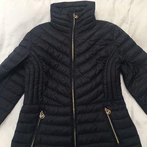 Michael Kors Puffer Jacket Navy Blue Medium (M)